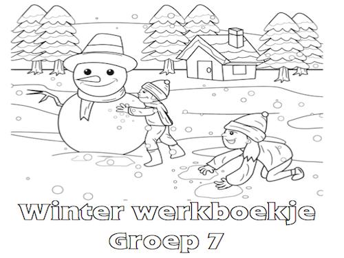 winter werkboekje groep 7 met afbeeldingen winter