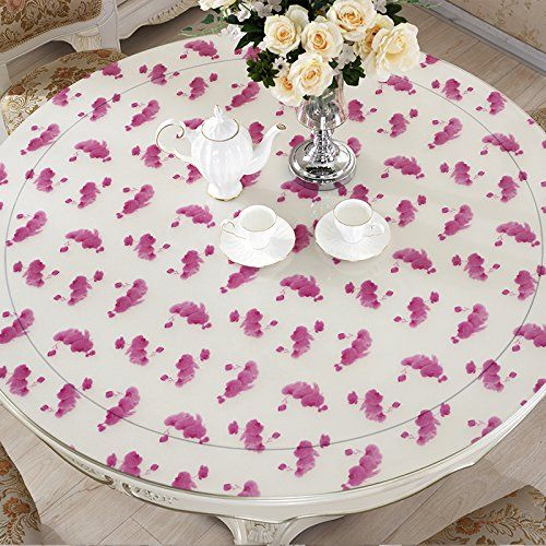 ZnzbztPvc Round Table Cloths Waterproof Table Mats Tablecloths Round Heat  Resistant Iron Resting Against