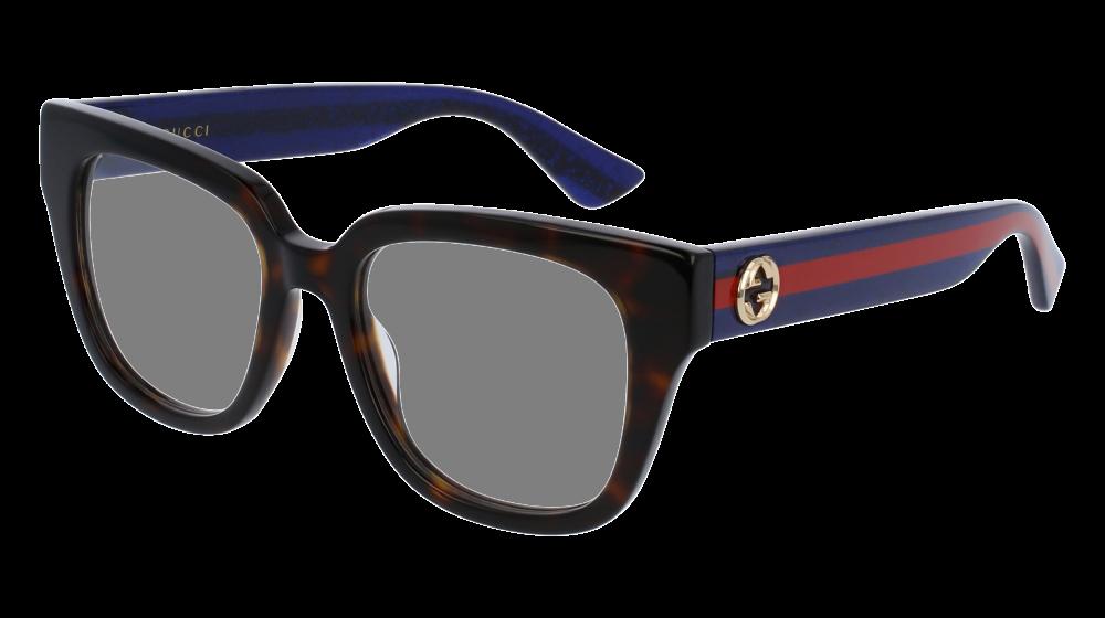 04c87350f2 Gucci - GG0037O-003 Havana Blue Eyeglasses   Demo Lenses