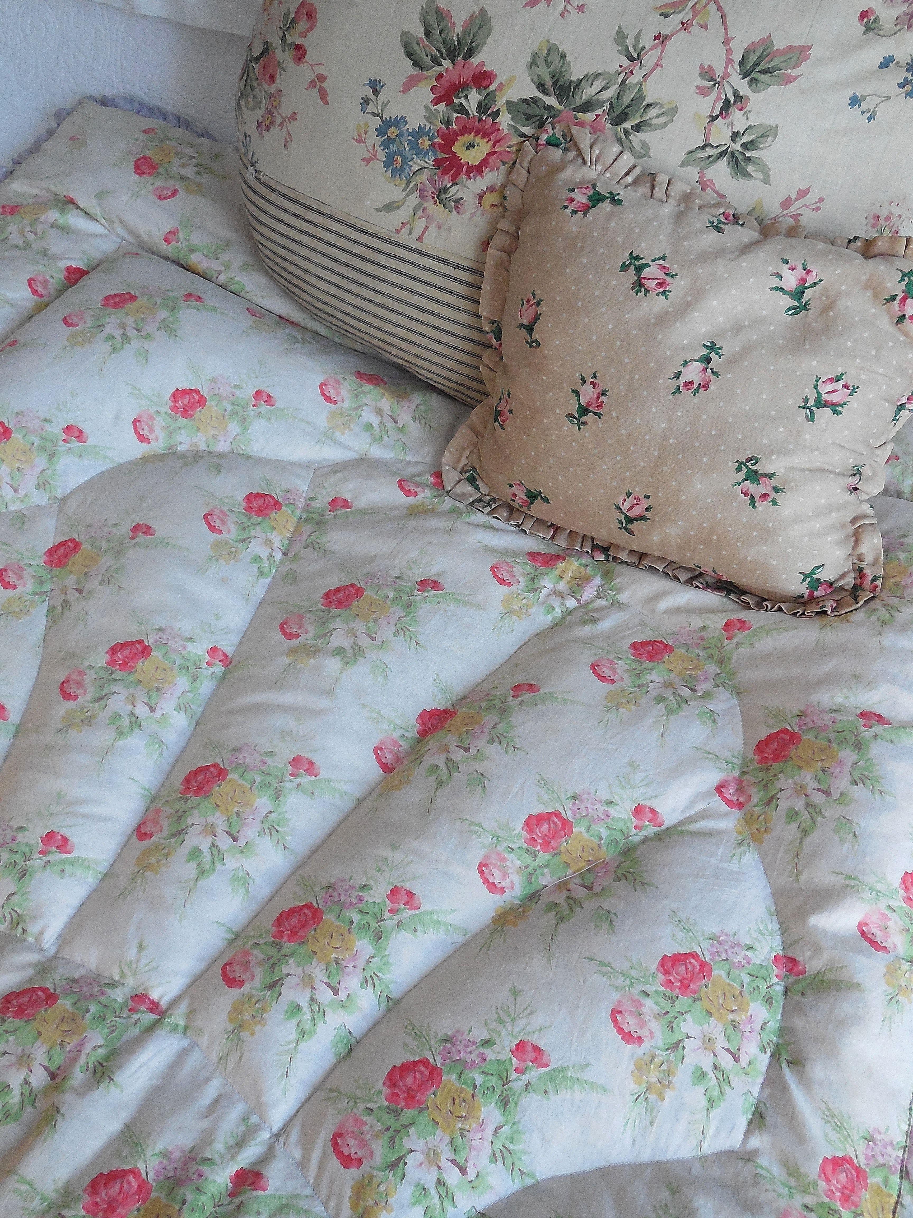 Divine vintage eiderdown new on the website Bedroom
