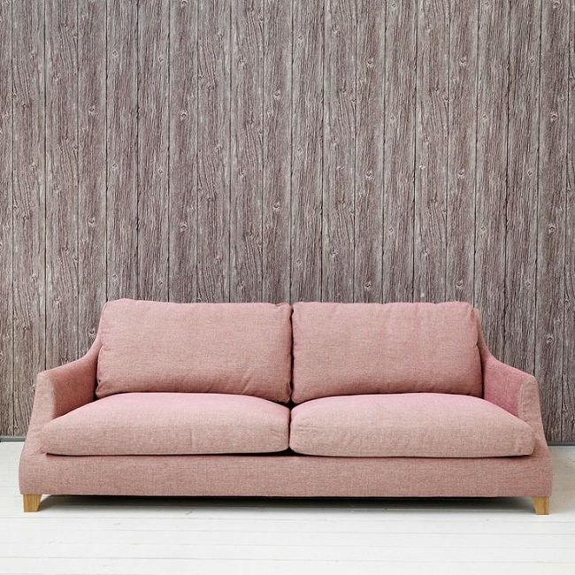 pink living room ideas rose three seater sofa | Dream house and ...