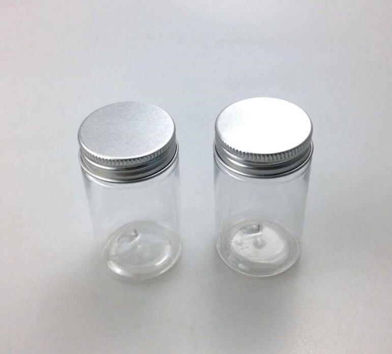 60g Pet Plastic Jar With Aluminum Screw Cap Plastic Jars Foam