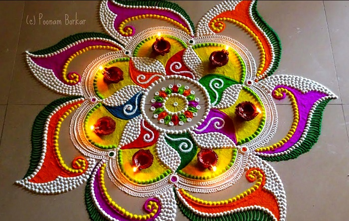 91+ Beautiful Rangoli Designs Ideas for Gudi Padwa 2020