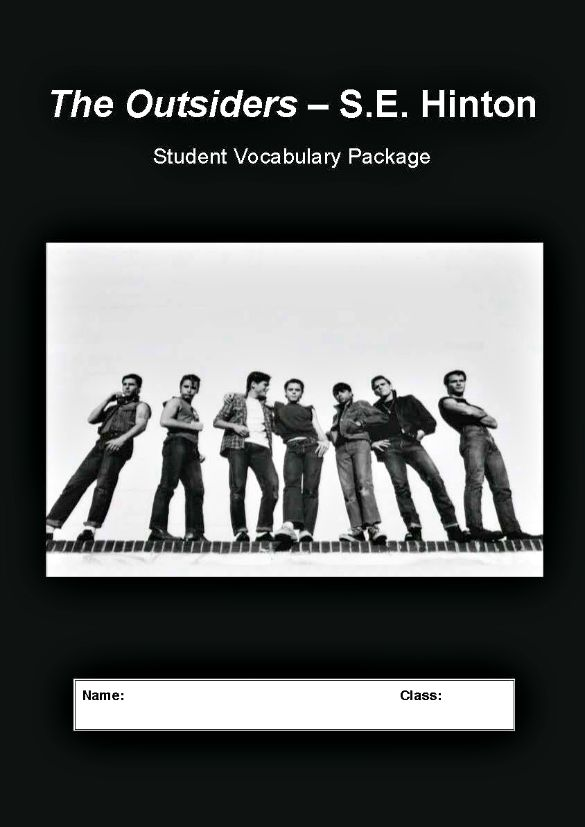 THE OUTSIDERS Vocabulary List Definitions Student