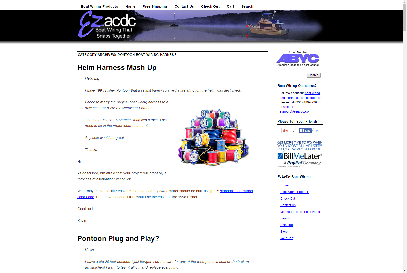Pontoon Boat Wiring Harness Easy To Install Ezacdc Product Marine Electrical