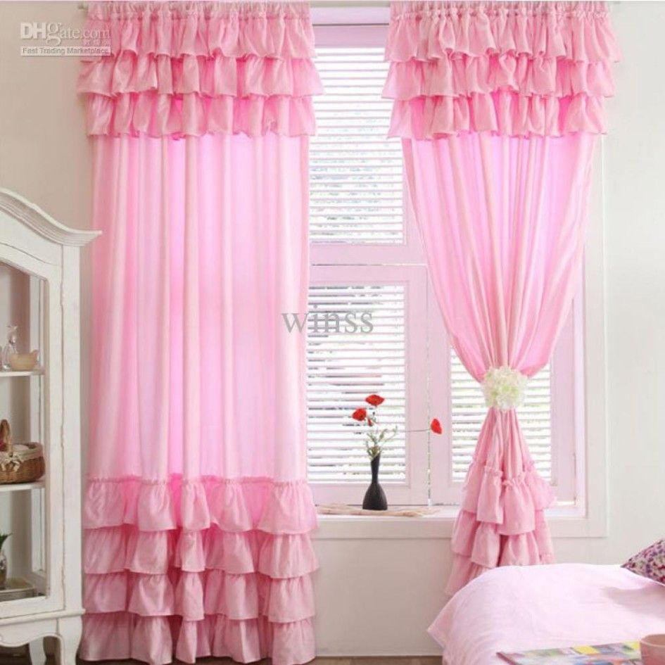 Beautiful Curtains For Living Room With Pink Color For Girls Room Ruffle Curtains Pink Ruffle Curtains Pink Curtains #pink #curtains #for #living #room