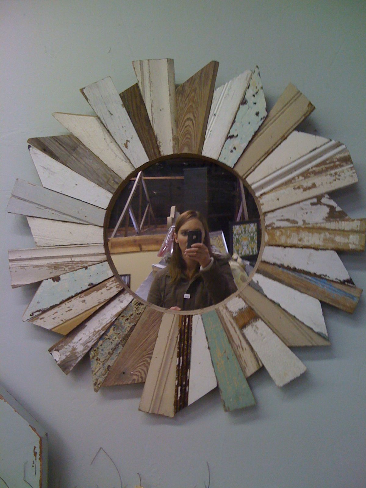 Star Burst Wooden Projects Diy Diy Beachy Wood Starburst Mirror