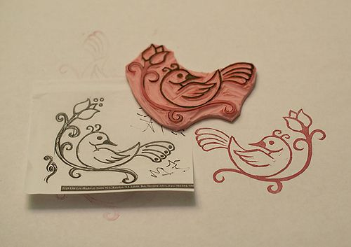 make your own rubber stamp xo to make pinterest stamps