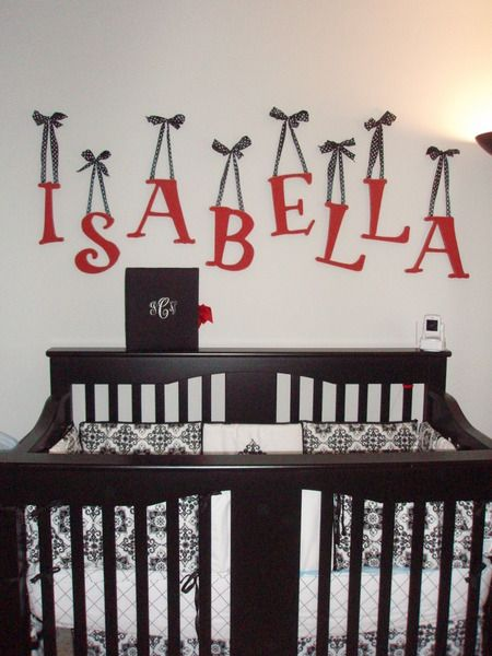 Baby S Red Black White And Gray Nursery