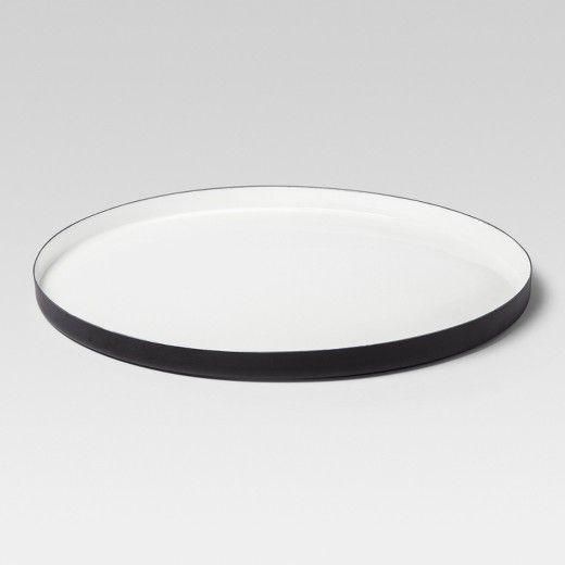 Black Decorative Tray Prepossessing Enamel Tray Extra Large  Whiteblack  Project 62  Decorative Decorating Inspiration