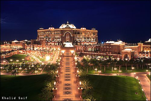 Emirates Palace Hotel, Abu Dhabi - second most expensive hotel to ...