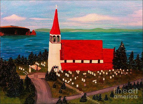 Barbara Griffin - Sunset on the Church by the Sea