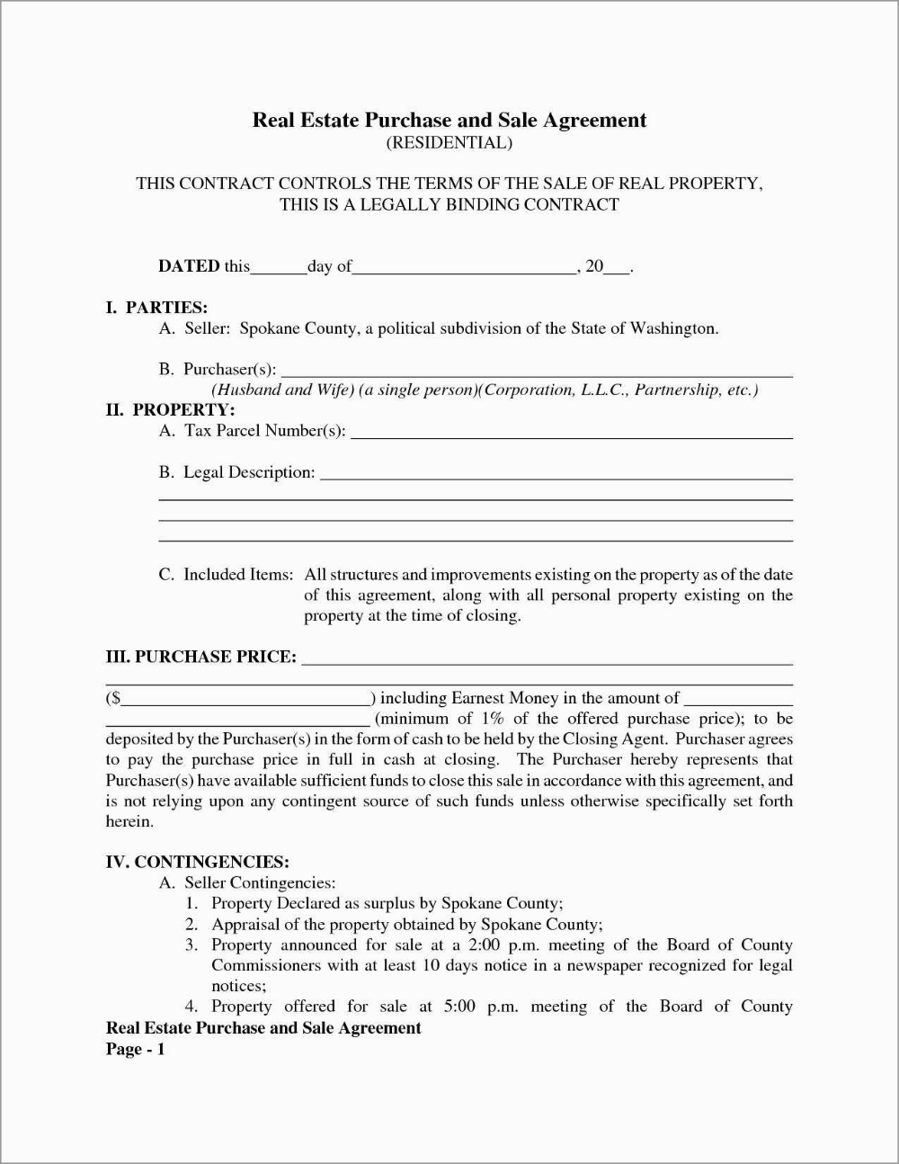 Fresh Purchase Agreement Real Estate Template Free Best Of Template For Free Simple Real Estate Pu Real Estate Contract Real Estate Templates Contract Template
