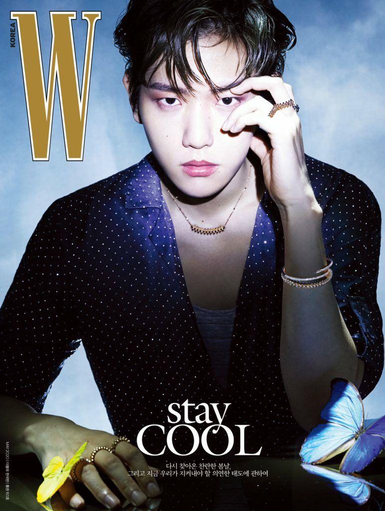 15 W Korea Magazine update with BAEKHYUN   Baekhyun, Exo ...
