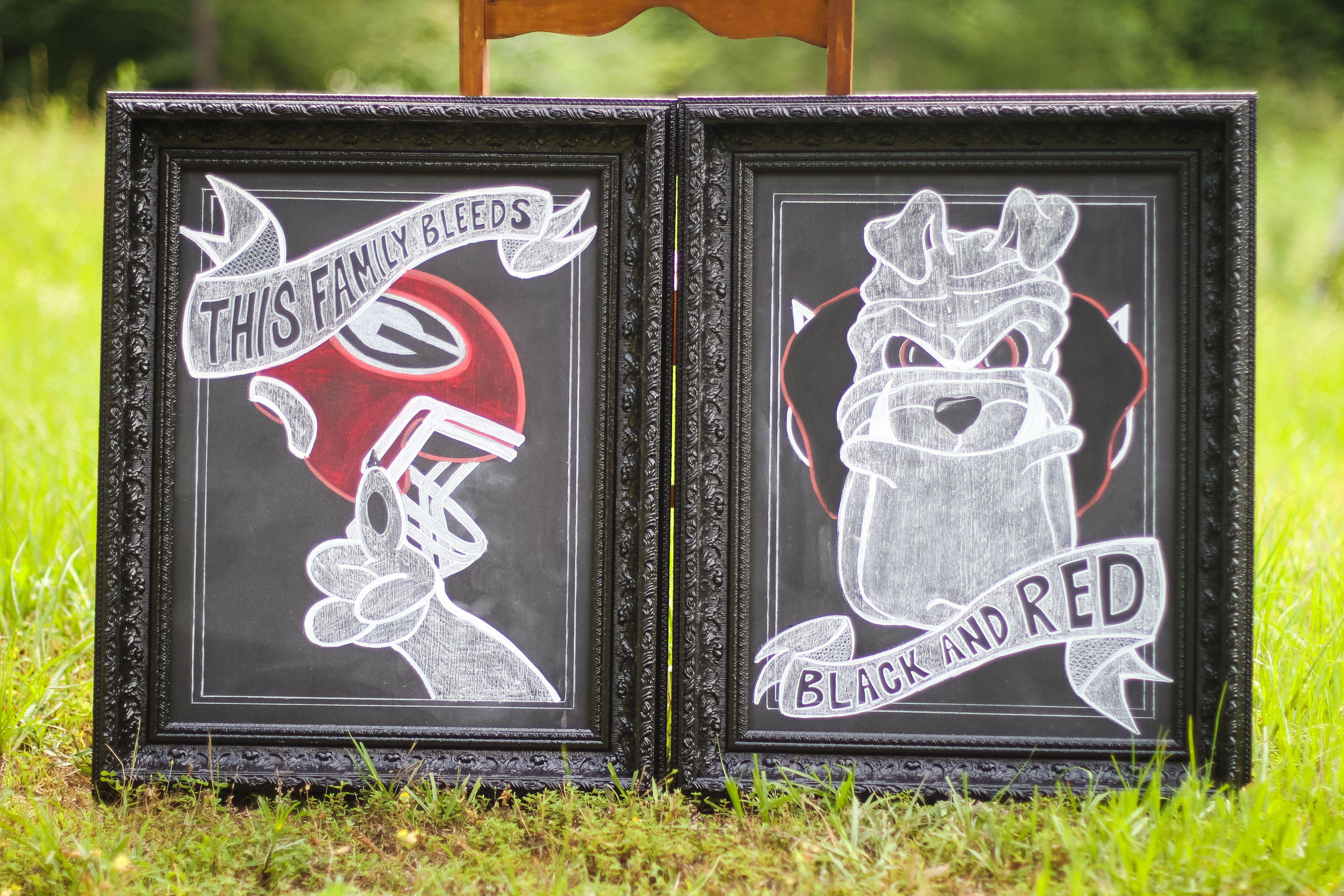 Uga Georgia Bulldogs Custom Chalkboard By Chalk On The Wall Www Facebook Com Chalkonthewall Custom Chalkboard Chalkboard Art Chalk