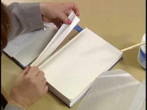 9 Repairing A Broken Hinge On A Library Book Book Repair Book Making Handmade Books
