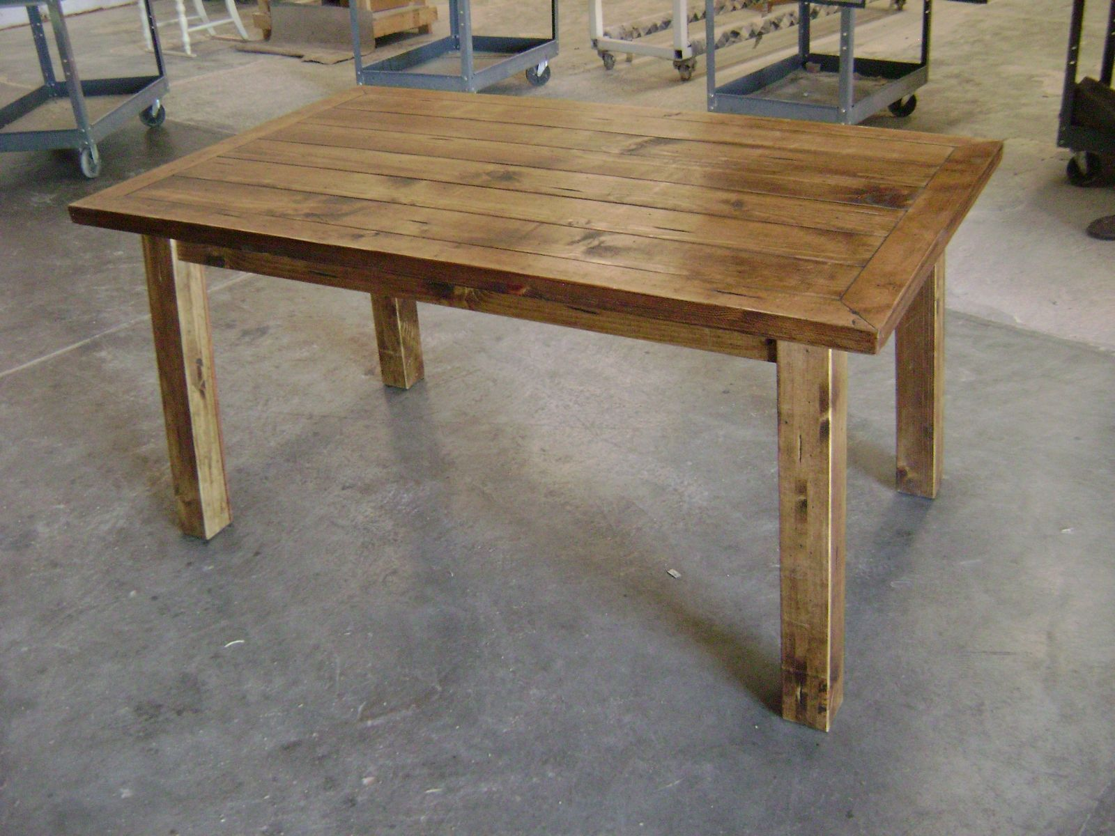 Color inspiration for table.......Custom Rustic Pine Dining ...