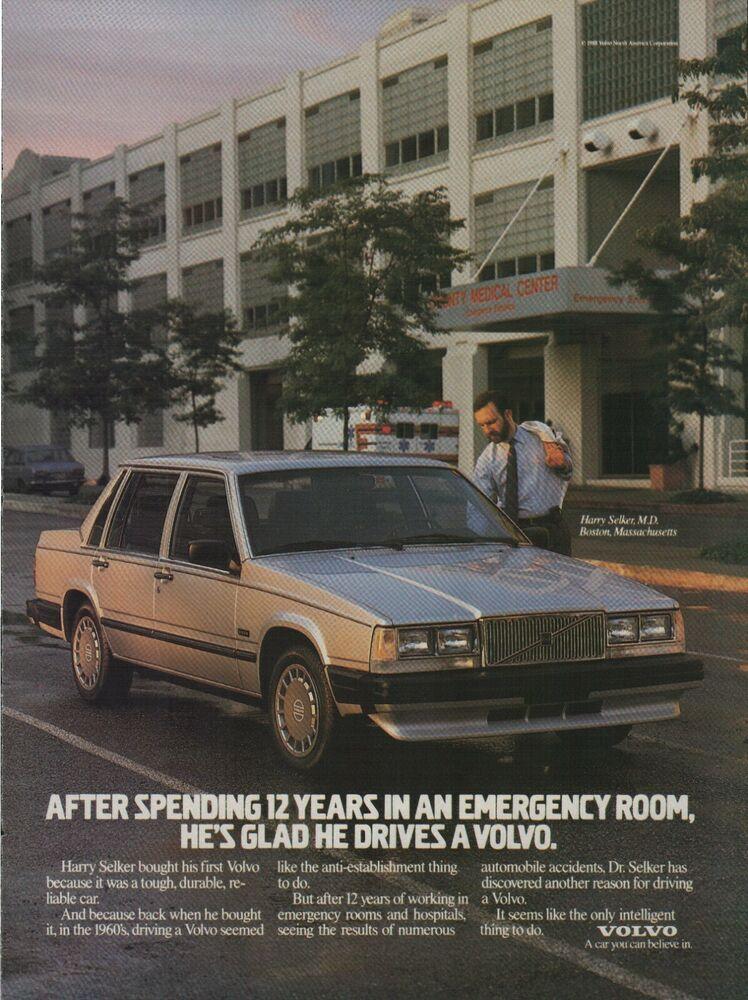 1988 Volvo Car Harry Selker M.D. Boston Massachusetts