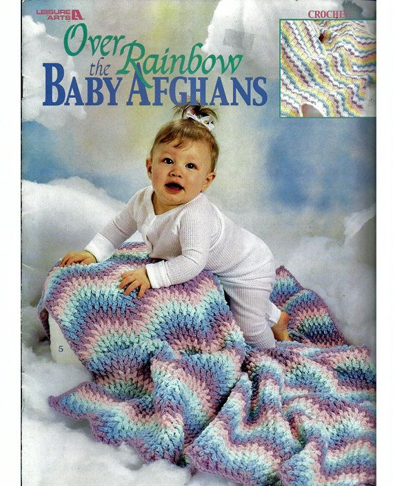 Over The Rainbow Baby Afghans Crochet Pattern Book Leisure Arts 3229 ...