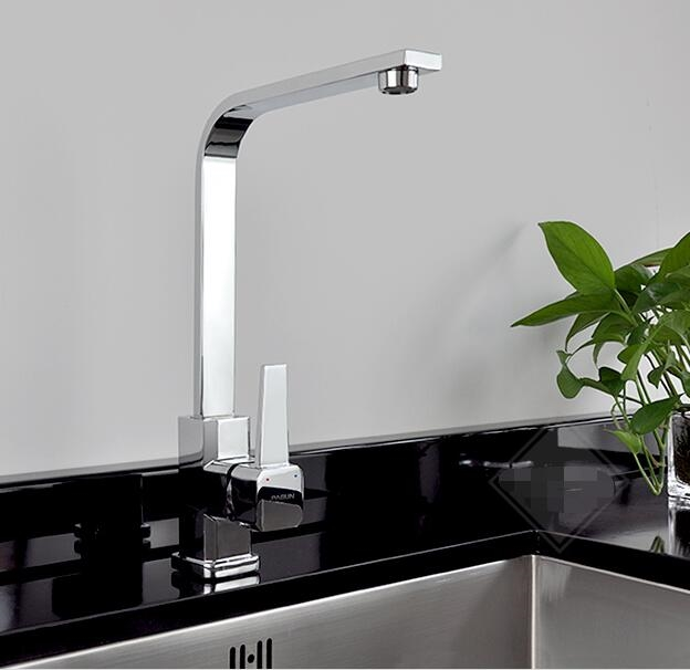 Amazing (97.49$) Know More   Dofaso Luxury Square Tube Faucets Kitchen Sink Faucet  With