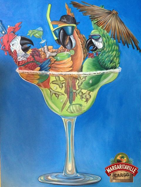 Enjoy your First Day of Fall with Parrots and Margaritas