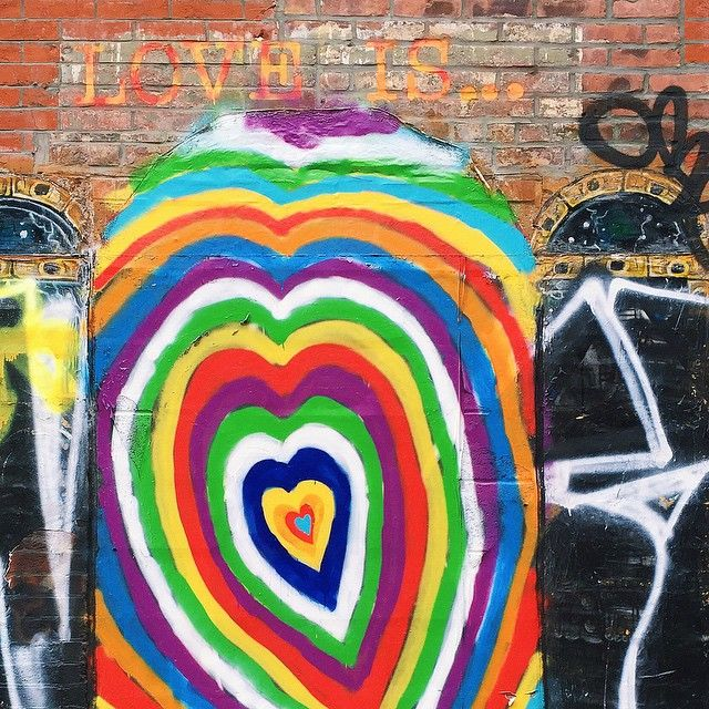 street art | love is for everyone | #lovewins | lower east side NY - via @amyventures