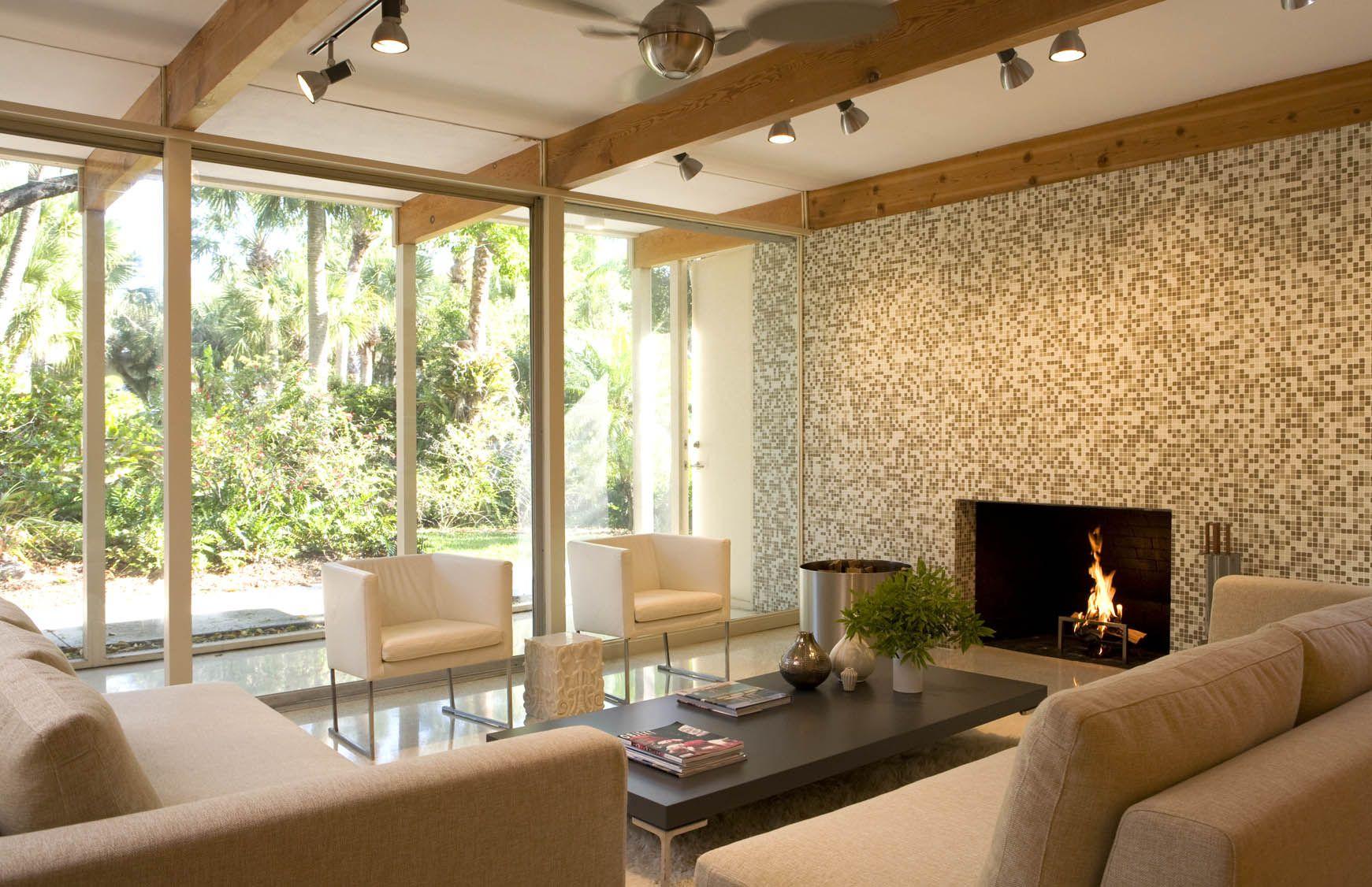 Mid Century Interior Design Terrazzo Flooring