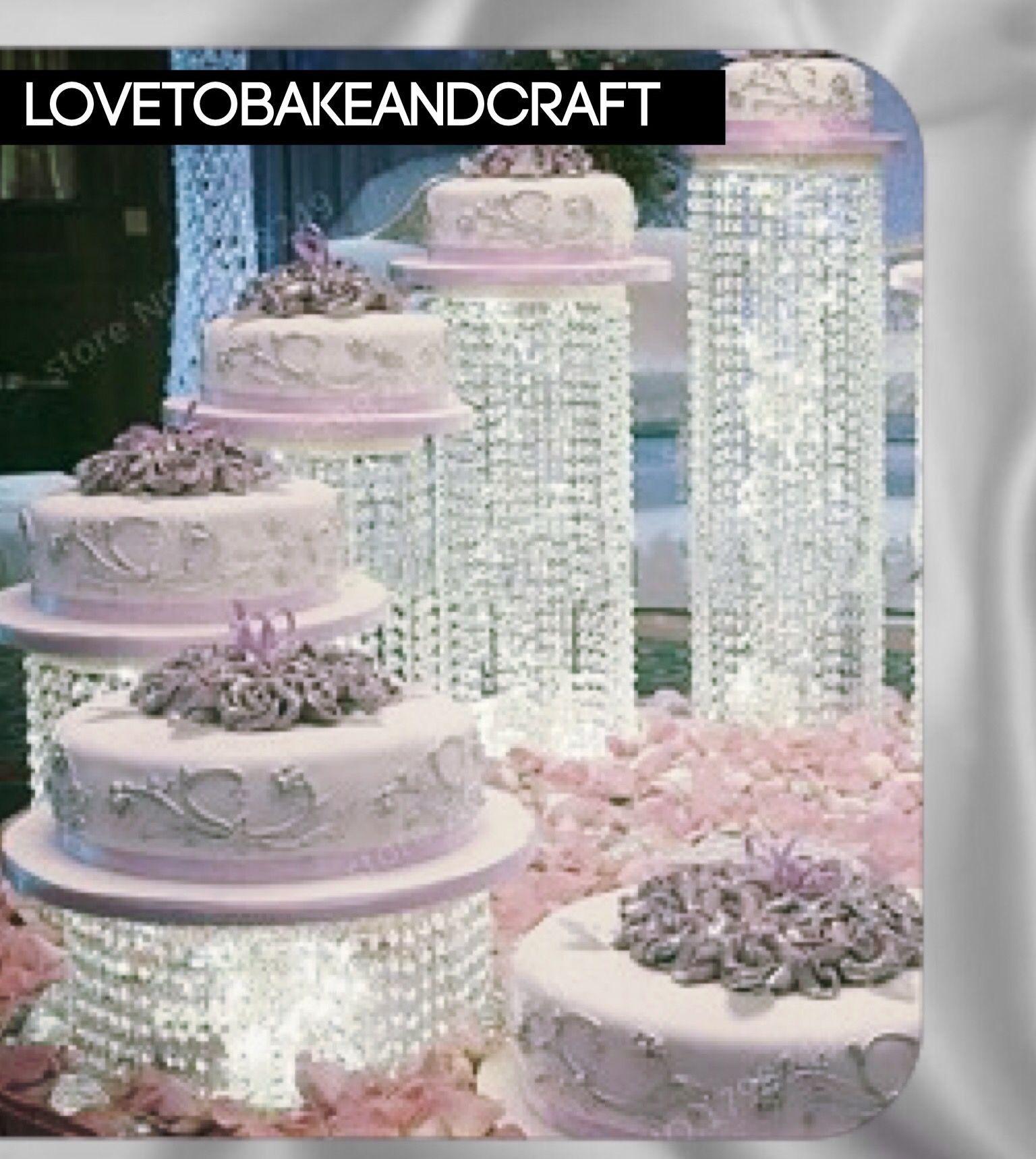 crystal-cake-stand.-led-lights.-led-cake-stand.-wedding-cake-stand ...