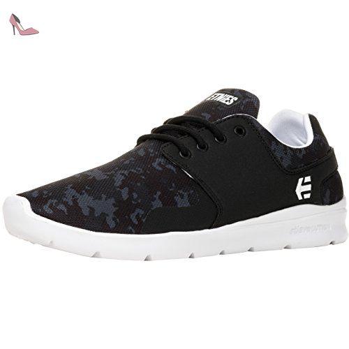 Etnies 4101000419, Scout Homme - Noir - Black (Black/Black/Gum), 4.5 UK