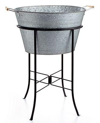 Masonware Galvanized Tin Party Tub With Stand Party Tub Artland