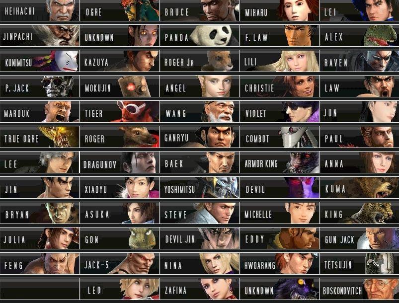Tekken 1 6 Characters New Roster Tekken 7932101 803 610 Jpg 803
