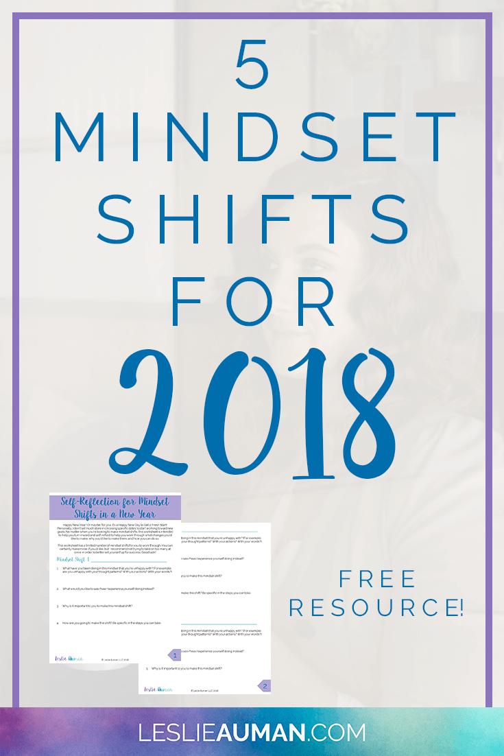 5 Mindset Shifts for 2018 | Mindset, Free worksheets and Worksheets