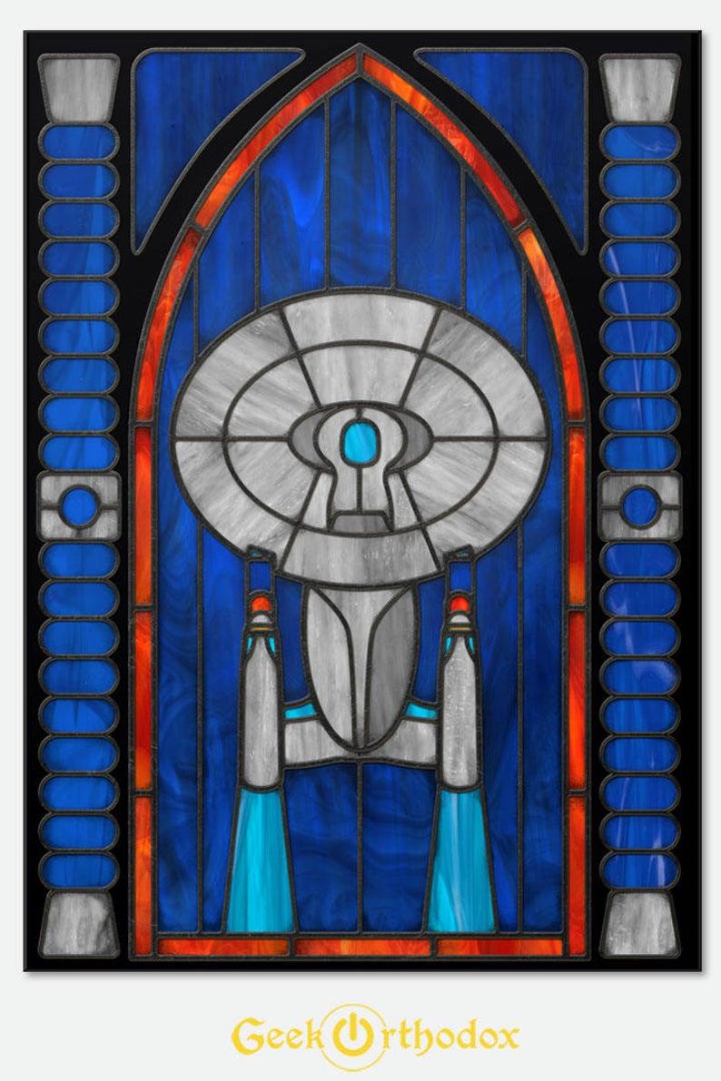 Pin By Jody Bozelie On Star Trek Captain Jame T Kirk Stained Glass Window Clings Star Trek Art Art