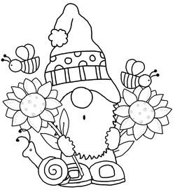Gnome Clip Art 38 Magical Clip Art Or Line Art Free In 2021 Clip Art Gnomes Crafts Gnome Patterns