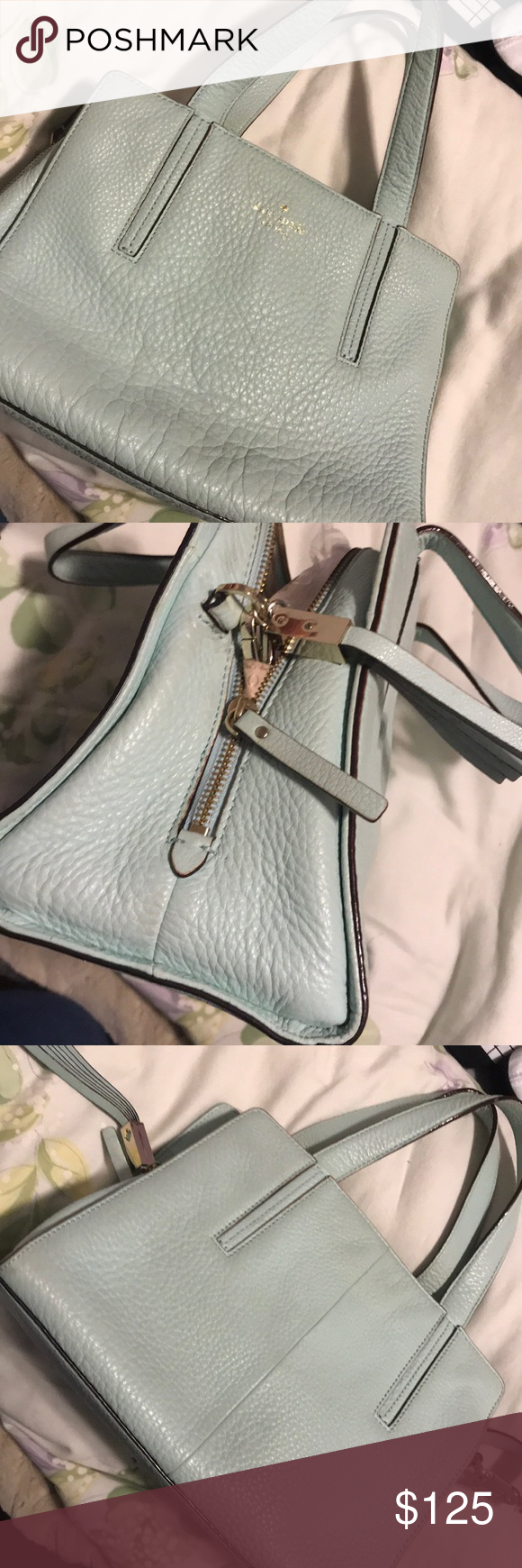 Pastel blue Kate Spade Crossbody Slightly used pastel blue Kate Spade crossbody.   Purchased for $215 after tax.  Original price: $498    Year of purchase July 4th of 2015 kate spade Bags Crossbody Bags