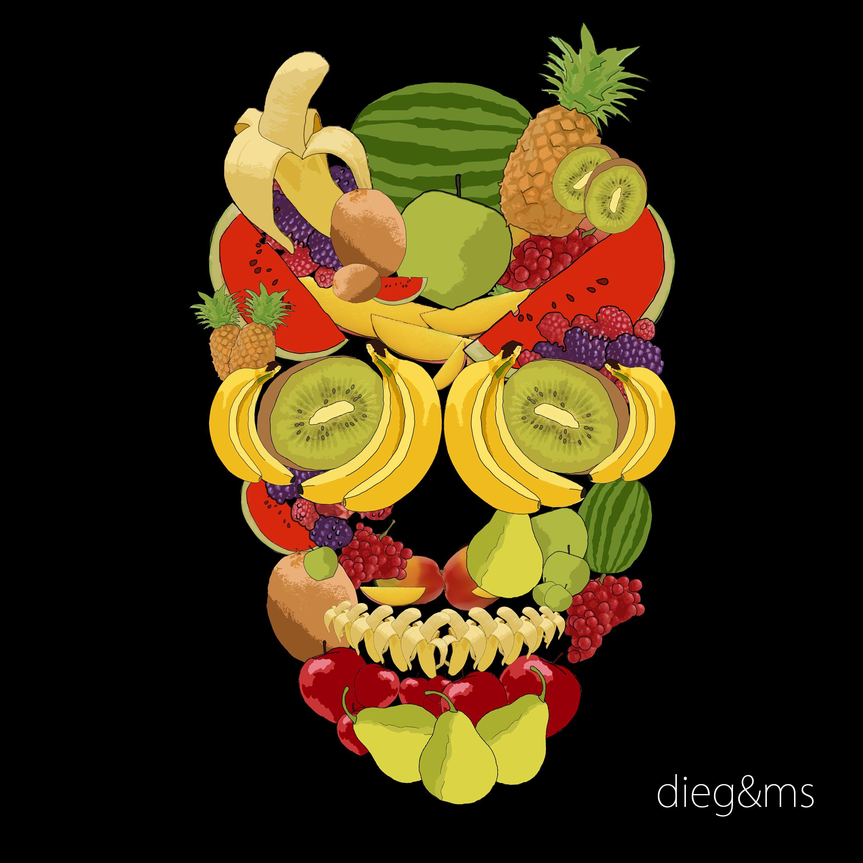 Skull #Fruit #Calavera #Frutas | Portfolio | Pinterest