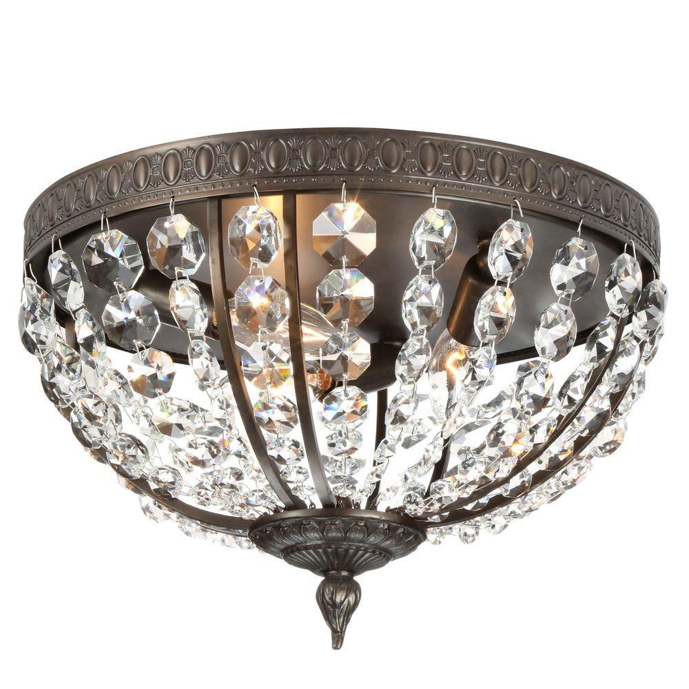 World imports bijoux collection light flemish flushmount lights