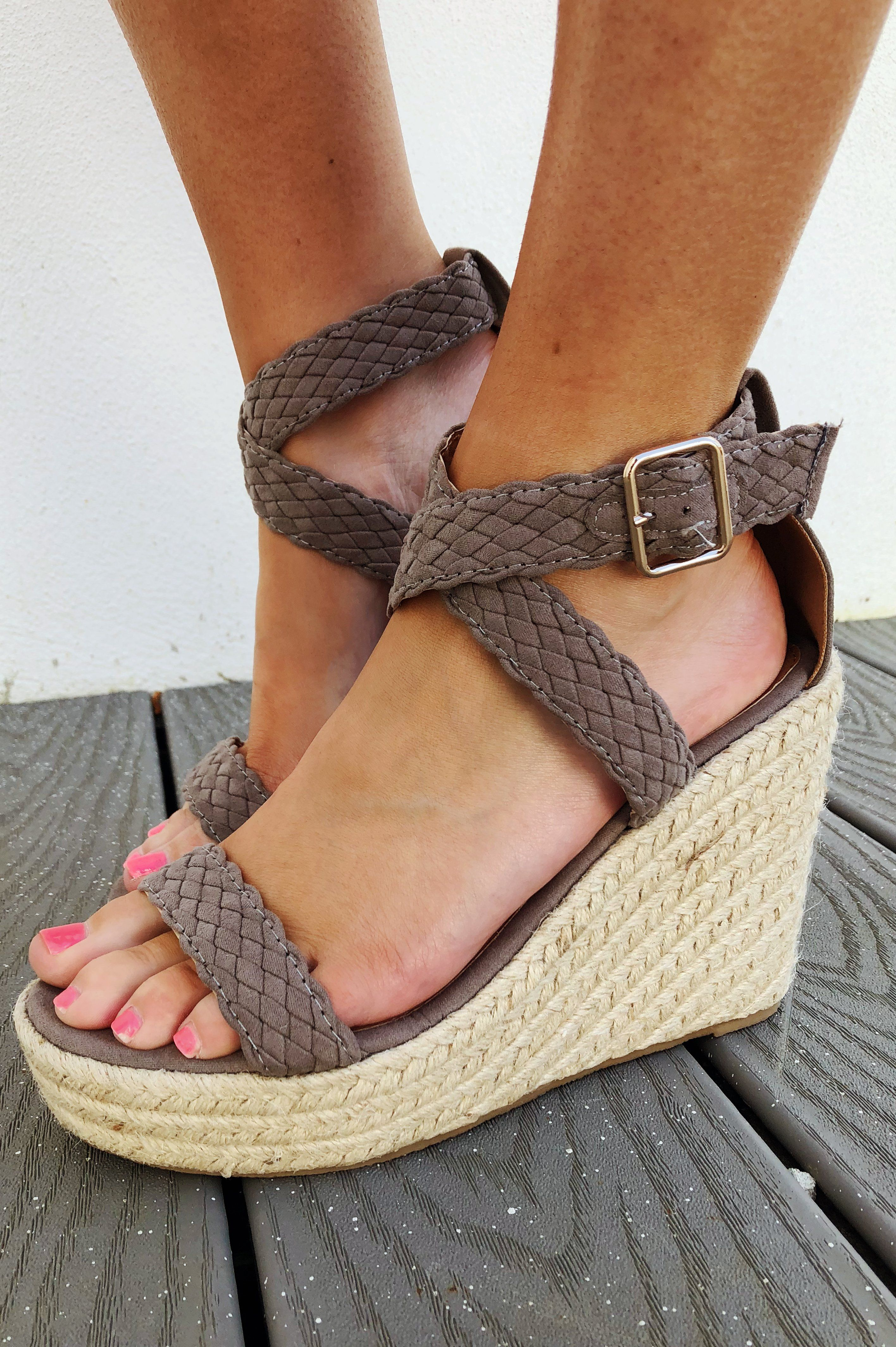 Available in Black, Taupe, & Navy - Chunky Heel - Almond