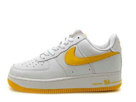 Low White Yellow Shoes Nike Air Force 1 Low White Nikes Nike Shoes Yellow Shoes