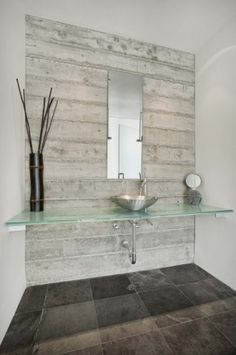 wood look tile bathroom feature wall - Google Search ...