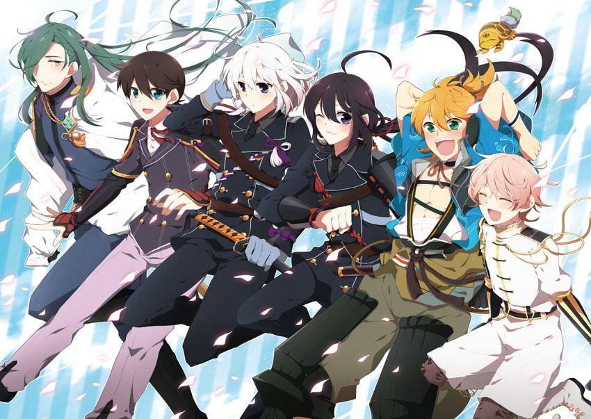 6+boys d ^_^ ahoge armor black_hair blonde_hair blue_eyes