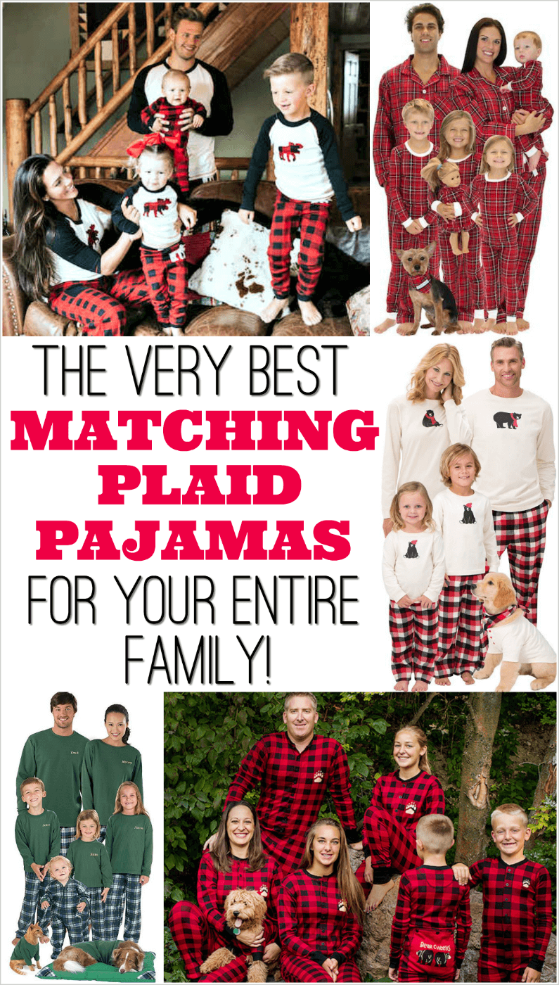 Cute Christmas card idea! Plaid Family Pajamas for the whole family. 1d702c3f9