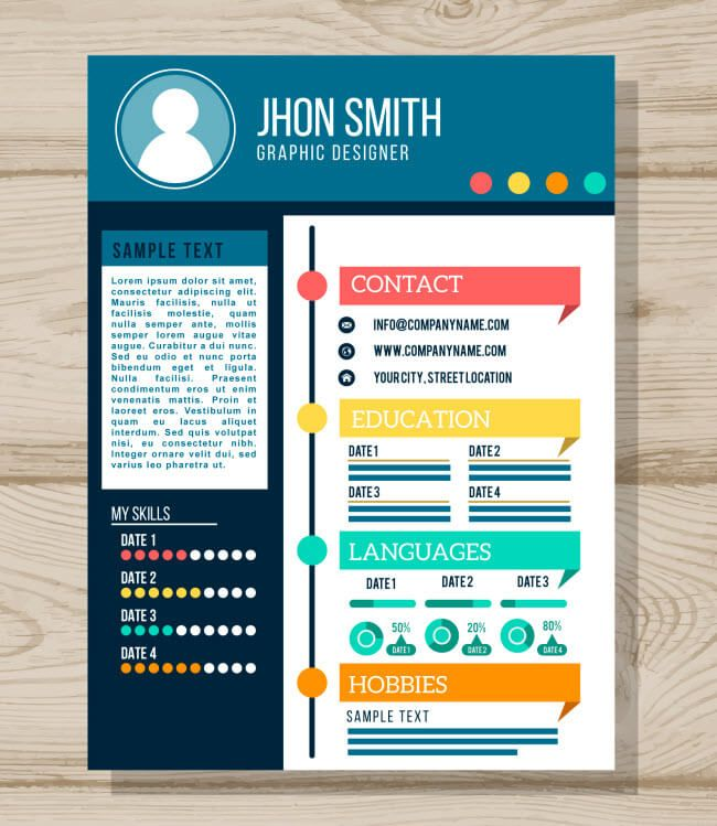 Creative resume template Resume Tips Pinterest Creative resume