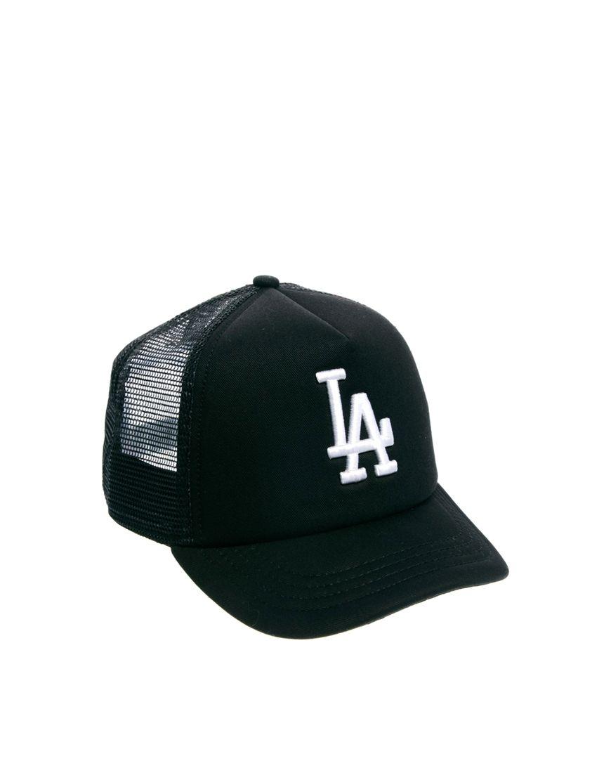 Ktz Black La Dodgers Trucker Snapback Cap Snapback Cap La Dodgers Cap