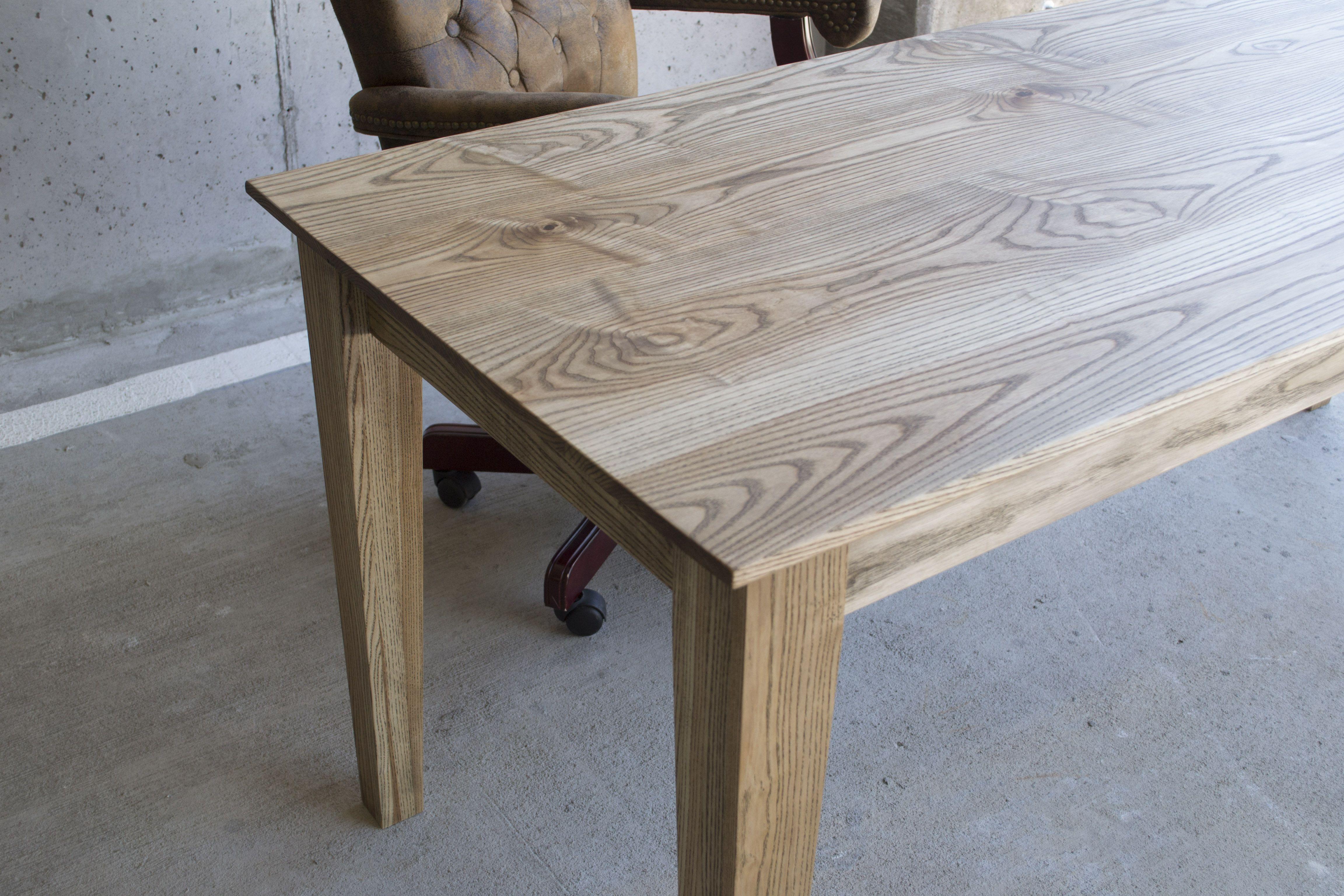 Ash Modern Desk Handmade From Local Ash Hardwood A Blend
