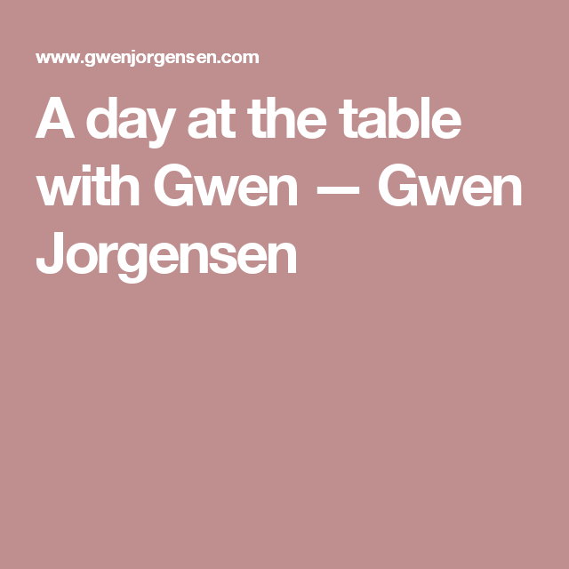 A day at the table with Gwen — Gwen Jorgensen