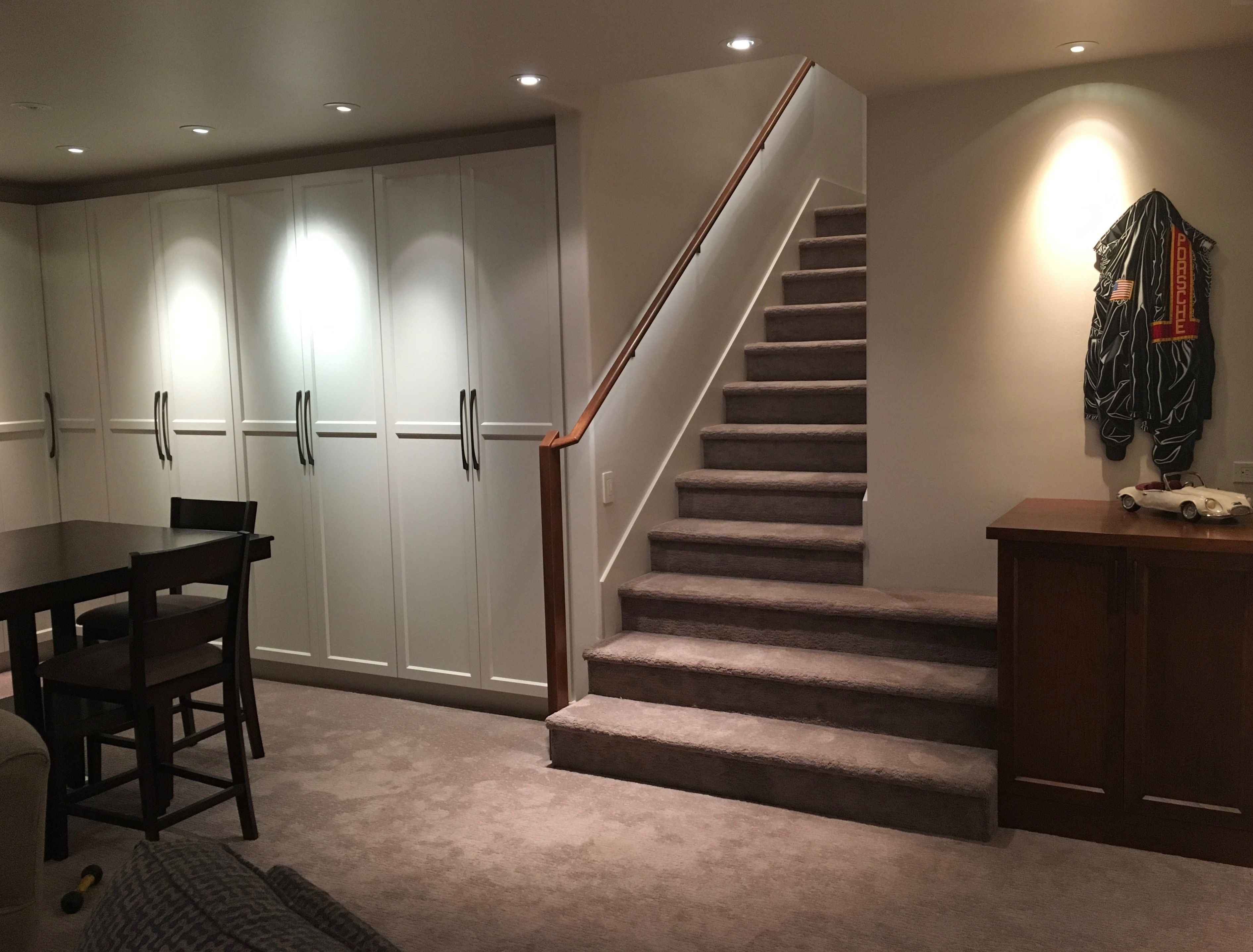 Custom Painted Wall System Media Room Cabinetry By Rc Cabinets Closets For A Sebastopol Client S New Home Wall Systems Closet Cabinets Basement Inspiration