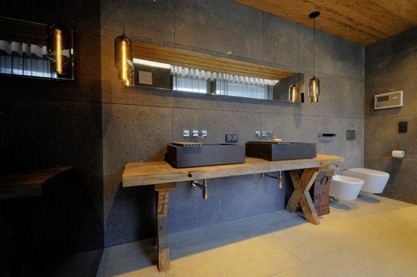 La vasque rectangulaire id es d co pour votre salle de for Salle bain industriel