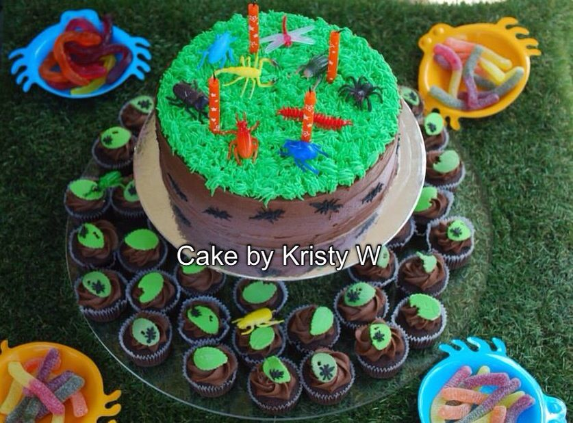 My Best Friends sons 4th birthday cake Boy Bug party Desserts