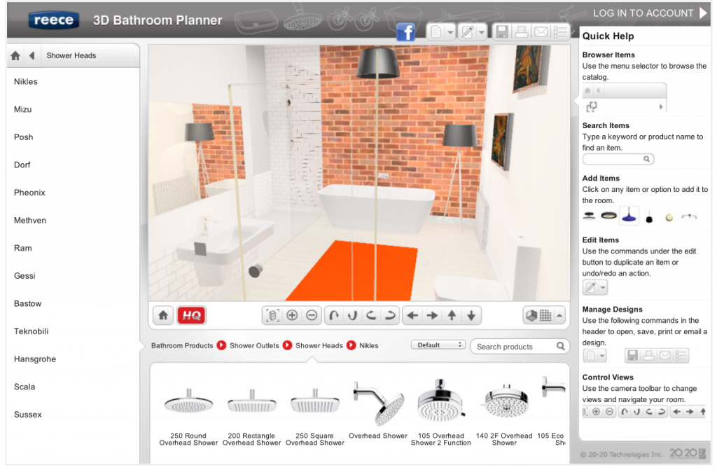 New Easy Online 3d Bathroom Planner Lets You Design Yourself The Interiors Addict Bathroo With Images Bathroom Planner Bathroom Remodel Designs Bathroom Design Software